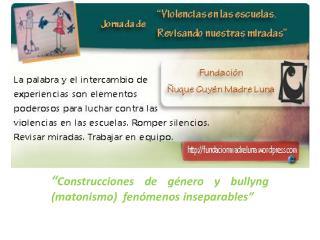 """"""" Construcciones de género y  bullyng ( matonismo )  fenómenos inseparables"""""""