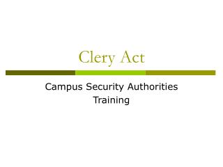 Clery Act