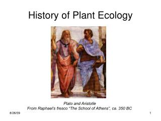 History of Plant Ecology