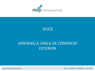 VENTANILLA ÚNICA DE COMERCIO EXTERIOR