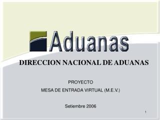 PROYECTO  MESA DE ENTRADA VIRTUAL (M.E.V.) Setiembre 2006