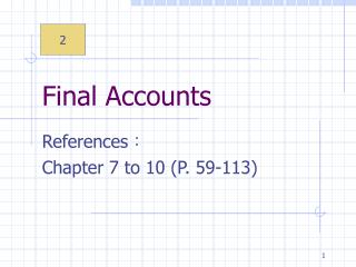 Final Accounts