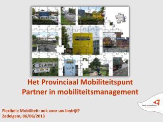 Flexibele Mobiliteit: ook voor uw bedrijf? Zedelgem, 06/06/2013