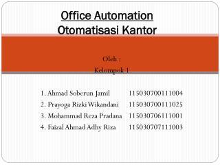 Office Automation  Otomatisasi Kantor