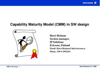 Capability Maturity Model CMM in SW design