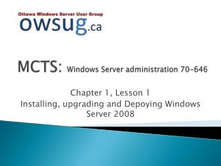 MCTS:  Windows Server administration 70-646