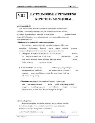 SistemInformasi Pendukung Keputusan Manajerial