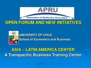 Facultad de Economia y Negocios UNIVERSIDAD DE CHILE CENTRO ...