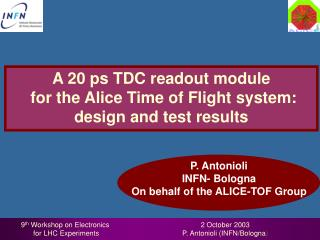 A 20 ps TDC readout module  for the Alice Time of Flight system: design and test results
