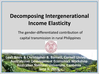 Decomposing Intergenerational Income Elasticity