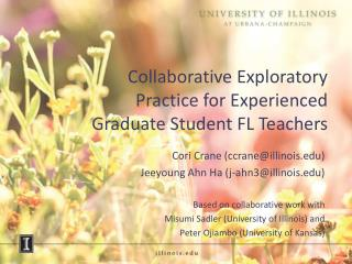 Collaborative Exploratory Practice for Experienced Graduate Student FL Teachers