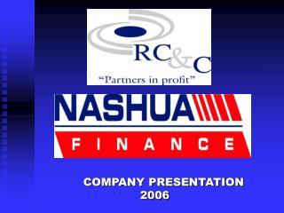 COMPANY PRESENTATION 2006