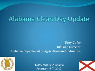 Alabama Clean Day Update