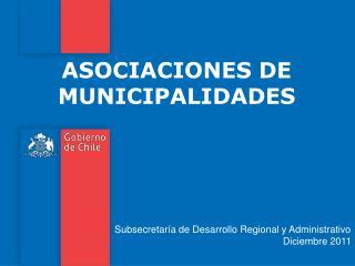 ASOCIACIONES DE MUNICIPALIDADES
