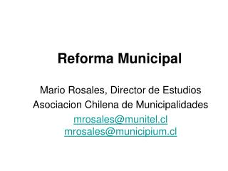 Reforma Municipal