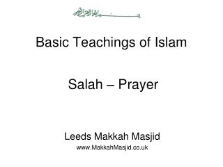 Basic Teachings of Islam