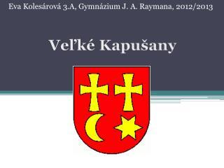 Eva Koles�rov� 3.A, Gymn�zium J. A.  Raymana , 2012/2013
