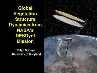 Global Vegetation Structure Dynamics from NASA's DESDynI Mission