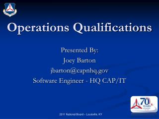 Operations Qualifications