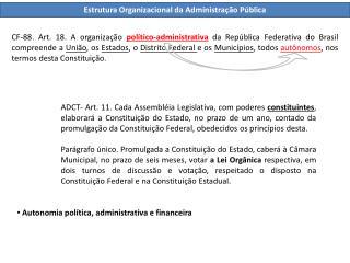Estrutura Organizacional da Administração Pública