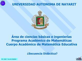 UNIVERSIDAD AUTONOMA DE NAYARIT