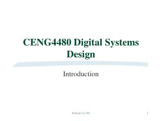 CENG4480 Digital Systems Design