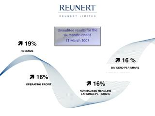 Unaudited results for the six months ended  31 March 2007