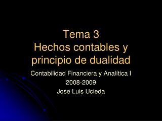 Tema 3 Hechos contables y principio de dualidad