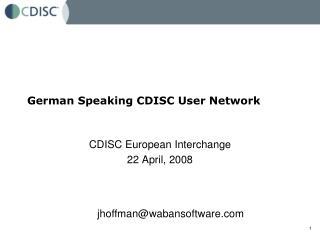 German Speaking CDISC User Network