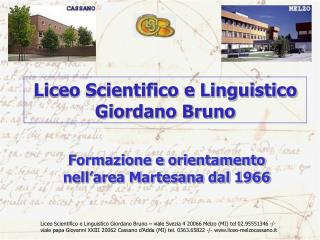Liceo Scientifico e Linguistico Giordano Bruno