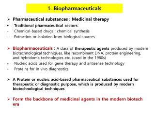 1. Biopharmaceuticals