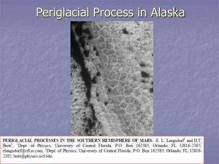 Periglacial Process in Alaska