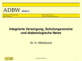 Integrierte Versorgung, Schulungsvereine und diabetologische Netze