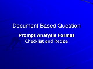 Document Based Question