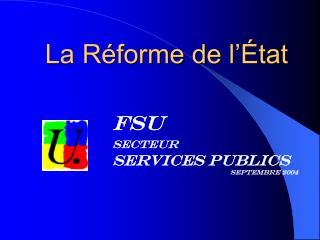 La Réforme de l'État