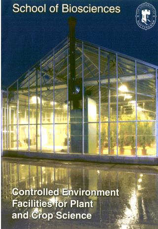 directly in soil and in containers and 52 controlled Environment rooms and cabinets.