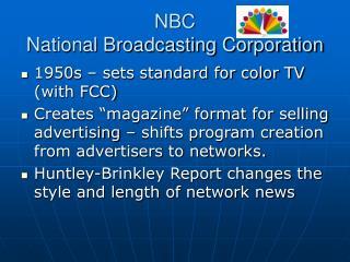 NBC National Broadcasting Corporation