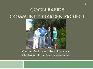 Coon Rapids Community Garden Project
