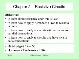 Chapter 2 � Resistive Circuits