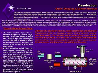 Desolvation Steam Stripping & Solvent Removal