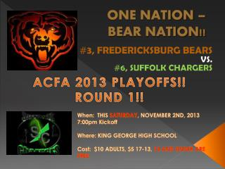 ONE NATION �  BEAR NATION!!
