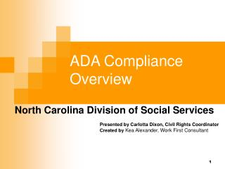 ADA Compliance Overview