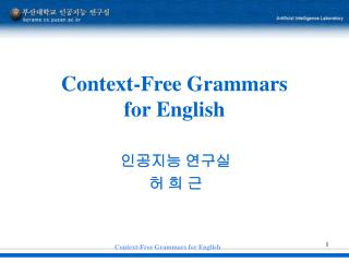 Context-Free Grammars  for English