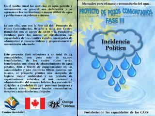 Manuales para el manejo comunitario del agua.