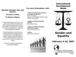 International  Development  Week
