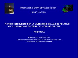International Dark Sky Association Italian Section