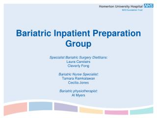 Bariatric Inpatient Preparation Group
