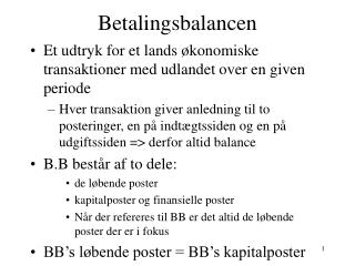 Betalingsbalancen