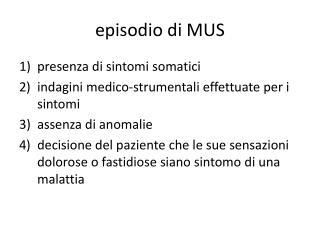 episodio di MUS