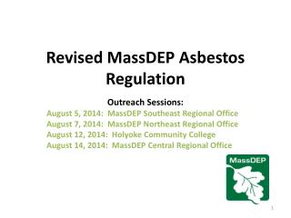 Revised MassDEP Asbestos Regulation